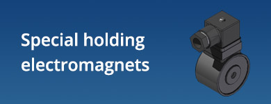 Special holding electromagnets