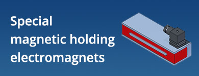 Special magnetic holding electromagnets