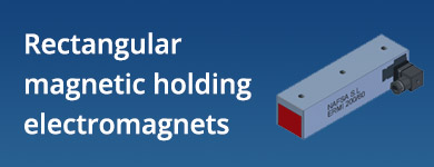 • Rectangular magnetic holding electromagnets